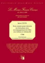 Pleyel, I. : Trois sonates pour clavecin ou forte-piano avec accompagnement de flute (ou violon) et violoncelle, 1788. Facsimile
