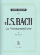 Bach, J.S. : Il Clavicembalo ben temperato, vol. II per Pianoforte (Mugellini)