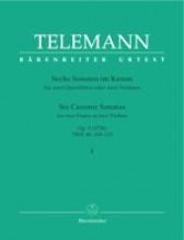 Telemann, G.Ph. : 6 Sonate canoniche op. 5 per 2 Flauti o 2 Violini, vol. I. Urtext
