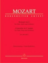 Mozart, Wolfgang Amadeus : Concerto in do KV 299, riduzione per Flauto, Arpa e Pianoforte. Urtext