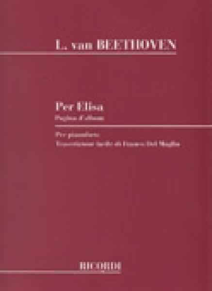 Beethoven, L. van : Per Elisa, trascrizione facilitata per Pianoforte (Del Maglio)