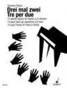 Piazza, G. : Tre per due. 10 Pezzi facili per Pianoforte a 6 mani