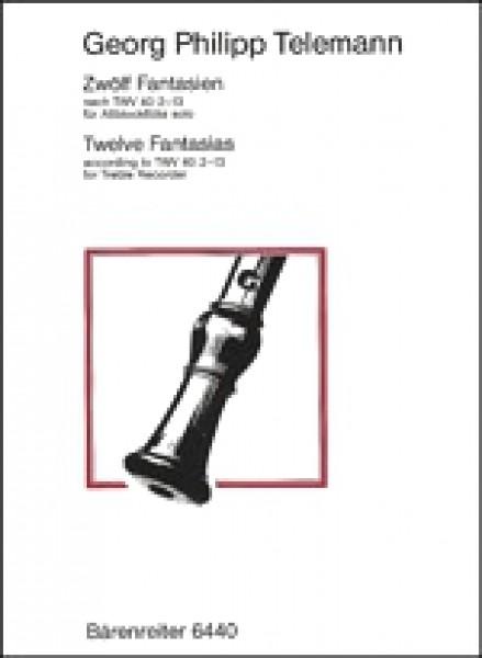 Telemann, Georg Philipp : 12 Fantasie per Flauto dolce solo