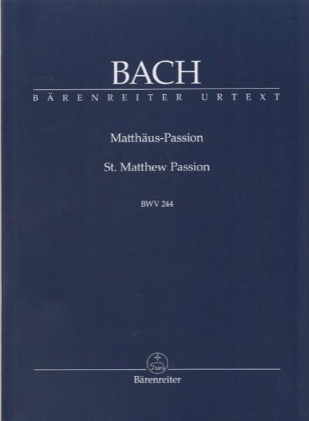 Bach, J.S. : Passione secondo Matteo, partitura tascabile. Urtext