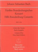 Bach, J.S. : Concerto Brandeburghese n. 5 BWV 1050. Partitura tascabile. Urtext