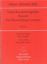 Bach, J.S. : Concerto brandeburghese n. 1 BWV 1046. Partitura tascabile. Urtext