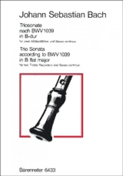 Bach, J.S. : Triosonata BWV 1039, per 2 Flauti dolci Contralti e Basso continuo