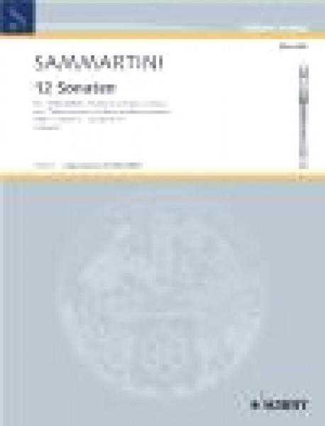 Sammartini, G. : 12 Sonate per 2 Flauti dolci Contralti (Violini) e Basso Continuo, vol. 3