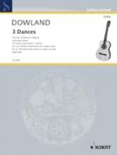 Dowland, John : 3 Danze per Chitarra e Violino (Flauto traverso, Flauto dolce)