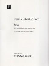 Bach, J.S. : Fuga a 6 voci, dall'Offerta Musicale BWV 1079. Partitura