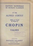 Chopin, Frédéric : Valzer, per Pianoforte
