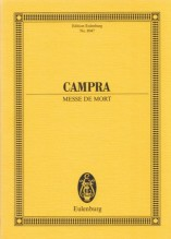Campra, A. : Messe de Mort. Partitura tascabile