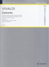 Vivaldi, Antonio : Concerto per Flauto, Archi e Basso Continuo op. 10, n. 3 Il Cardellino, riduzione per Flauto e Pianoforte