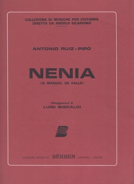 Ruiz Pipó, A. : Nenia (a Manuel de Falla), per Chitarra