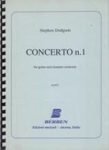 Dodgson, S. : Concerto n. 1 per Chitarra e orchestra da camera. Partitura