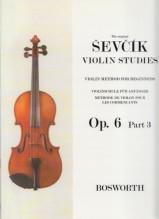 Sevcik, O. : Op. 6 parte 3. Metodo di Violino per principianti