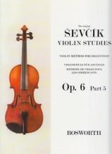 Sevcik, O. : Op. 6 parte 5. Metodo di Violino per principianti