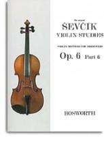 Sevcik, O. : Op. 6 parte 6. Metodo di Violino per principianti