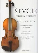 Sevcik, O. : Op. 2 parte 4. Scuola di tecnica dell'arco per Violino