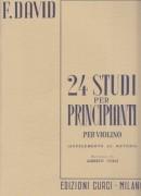David, F. : 24 Studi per Principianti, per Violino (con secondo Violino ad libitum)