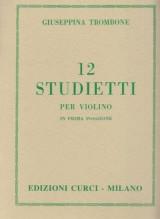 Trombone, G. : 12 Studietti per Violino in prima posizione
