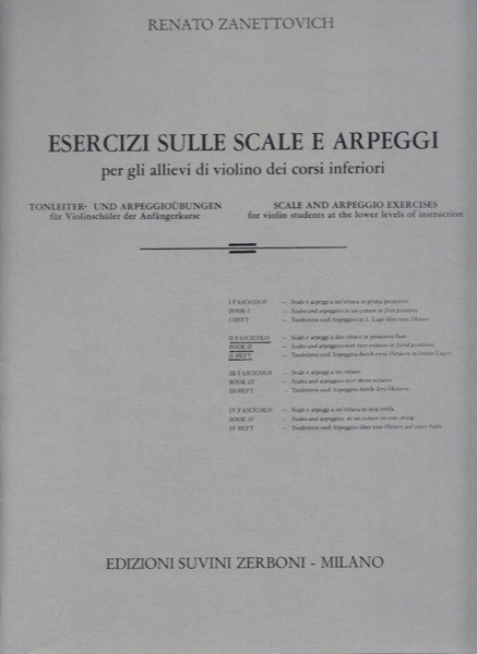 Zanettovich, R. : Esercizi sulle scale e arpeggi per Violino, vol. II