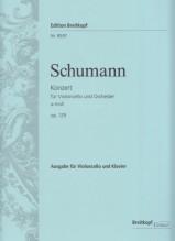 Schumann, R. : Concerto op. 129 per Violoncello e Ochestra, riduzione per Violoncello e Pianoforte. Urtext
