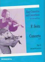 Seitz, F. : Concerto nr. 4 op. 15 in re, per Violino e Pianoforte