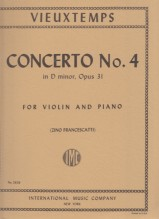 Vieuxtemps, H. : Concerto n. 4 op. 31 in re minore, per Violino e Pianoforte