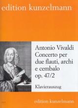 Vivaldi, A. : Concerto op. 47/2 per 2 Flauti, Archi e Cembalo. Riduzione per 2 Flauti e Pianoforte