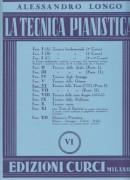 Longo, Alessandro : La tecnica pianistica, fascicolo 6. Tecnica delle terze (comprese le scale) (Parte 1)