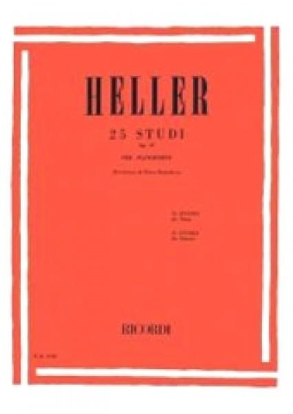 Heller, Stephen : 25 Studi per il ritmo e l'espressione op. 47, per Pianoforte
