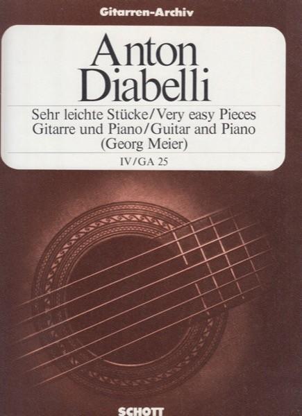 Diabelli, A. : Pezzi facilissimi per Chitarra e Pianoforte, vol. 4