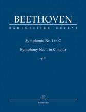 Beethoven, L. v. : Sinfonia n. 1 op. 21 in do, partitura tascabile. Urtext