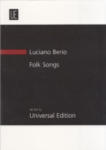 Berio, L. : Folksongs, per Mezzosoprano e 7 strumenti. Partitura tascabile