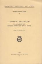 AA.VV. : Convegno Mozartiano in occasione del secondo centenario della morte