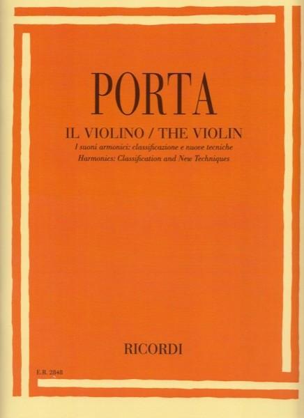 Porta, Enzo : Il Violino. I suoni armonici: classificazione e nuove tecniche
