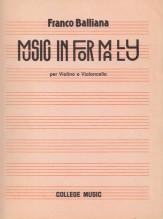 Balliana, F. : Music Informally, per Violino e Violoncello