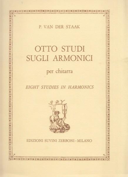 Van der Staak, P. : Otto studi sugli armonici, per Chitarra