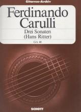 Carulli, F. : 3 Sonate per Chitarra