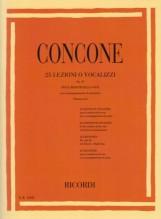 Concone, G. : 25 lezioni o vocalizzi op. 10, per il medium della Voce