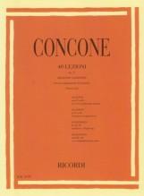 Concone, G. : 40 Lezioni op. 17 per Basso o Baritono, con accompagnamento di Pianoforte