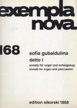 Gubaidulina, S. : Detto 1, Sonata per organo e percussioni. Partitura e parti