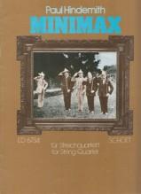 Hindemith, P. : Minimax, per Quartetto d'Archi. Partitura