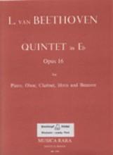 Beethoven, L. van : Quintetto op. 16 per Pianoforte, Oboe, Clarinetto, Corno e Fagotto, partitura e parti