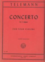 Telemann, G.Ph. : Concerto in do per 4 Violini