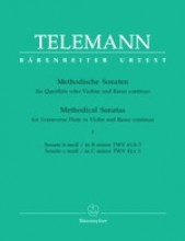 Telemann, G.Ph. : Methodische Sonaten for Flute or Violin and Bc. Volume 4: Sonatas B minor, C minor. Urtext