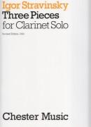 Stravinsky, Igor : Three pieces for Clarinet Solo