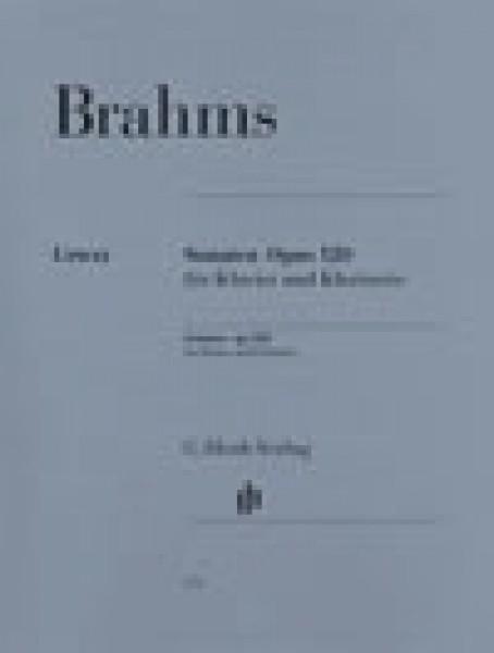 Brahms, Johannes : Sonate op. 120, per Clarinetto e Pianoforte. Urtext