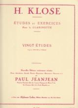 Klosé, Hyacinthe Eléonore : 20 Studi ed esercizi per il Clarinetto
